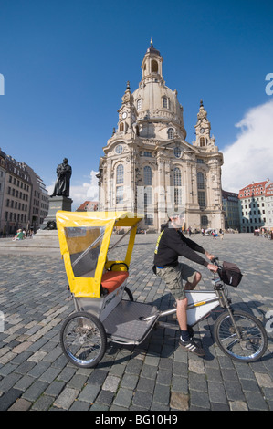 Frauenkirche (Church of Our Lady), Dresden, Saxony, Germany, Europe - Stock Photo