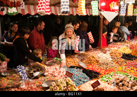 UK, England, Manchester, Albert Square, Brazennose Street market, sweet - Stock Photo