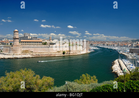 View over the fort saint jean the 39 vieux port 39 or old - Parking vieux port fort saint jean marseille ...