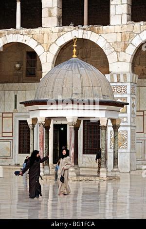 Grand Mosque, Umayyad mosque (708-715), Damascus, Syria - Stock Photo