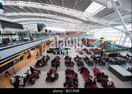 Heathrow Airport, Terminal 5, London, England, United Kingdom, Europe - Stock Photo