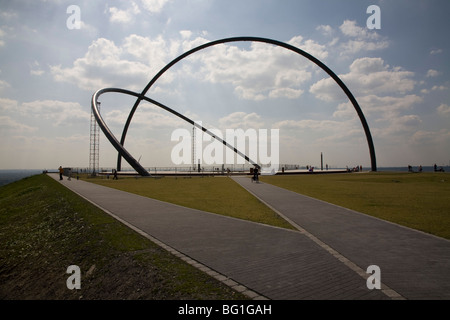 Observatory of the horizon, Herten, Halde Hoheward - Stock Photo