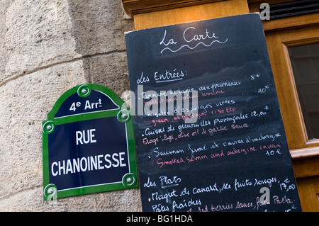 Brasserie au Bougnat, Rue Chanoinesse, Ile de la Cite, Paris, France, Europe - Stock Photo