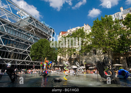 the centre georges pompidou beaubourg modern art museum in paris stock photo 130871217 alamy. Black Bedroom Furniture Sets. Home Design Ideas