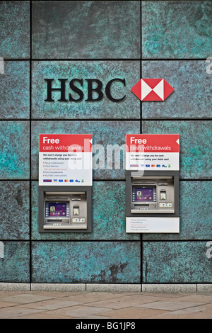 HSBC bank logo / sign, London, UK - Stock Photo