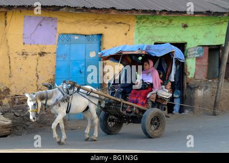 street scene, Gondar, Ethiopia - Stock Photo