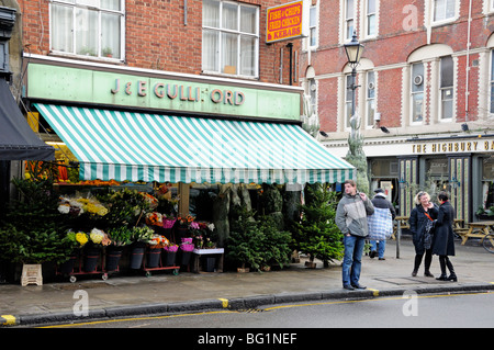 Greengrocers Shop Highbury Barn Islington London England UK - Stock Photo