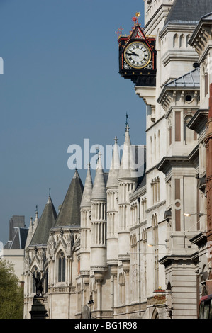 The Royal Courts of Justice, London, England, United Kingdom, Europe - Stock Photo