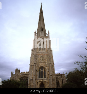 Church of Saint John in Thaxted in Essex in England in Great Britain in the United Kingdom. Christian Religion Churches - Stock Photo