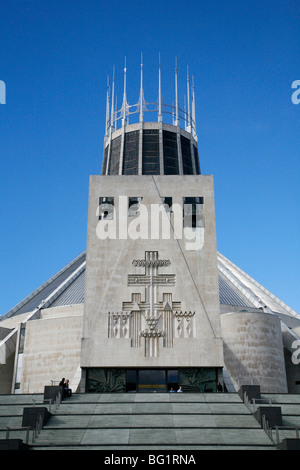 The Metropolitan Cathedral of Christ The King, Liverpool, Merseyside, England, United Kingdom, Europe - Stock Photo