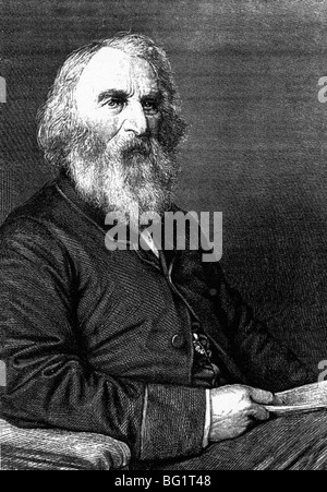 HENRY WADSWORTH LONGFELLOW  - American poet 1807-1882 - Stock Photo