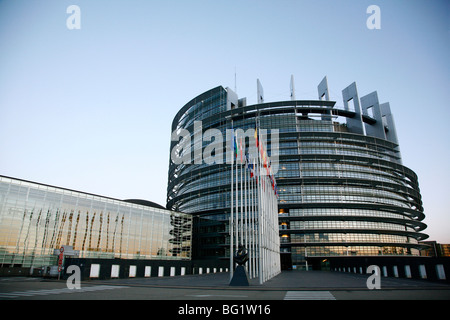 European Parliament building, Strasbourg, Alsace, France, Europe - Stock Photo