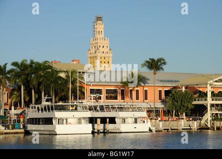 Bayside Marina in Downtown Miami, Florida USA - Stock Photo