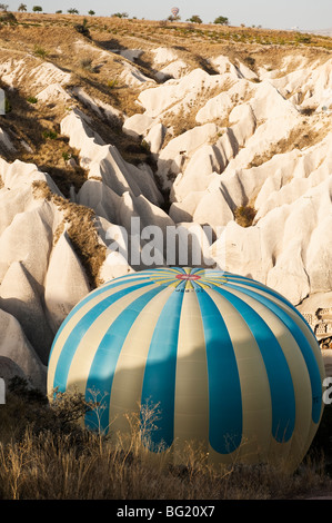 Hot air ballooning in Cappadocia, Nevsehir Province, Turkey with Kapadokya Balloons - Stock Photo