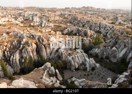 Erosion landscape in Cappadocia, Nevsehir Province, Turkey - Stock Photo