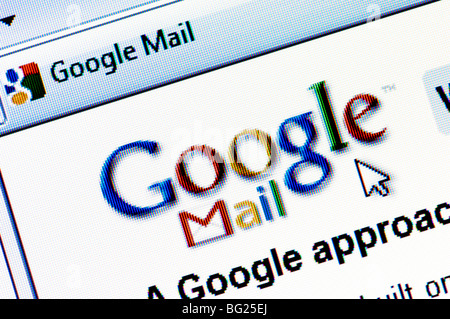 Screenshot of the Google Mail website (aka GMail) - the free email service run by internet giant Google. Editorial - Stock Photo