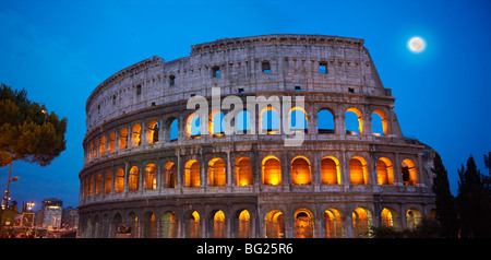 Coloseum ( Colosseo) at night . Rome - Stock Photo