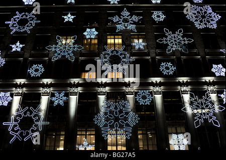 christmas lights and decorations on the saks store in fifth avenue new york usa stock - Christmas Lights Store