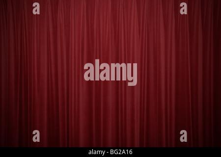 Red velvet curtains - Stock Photo