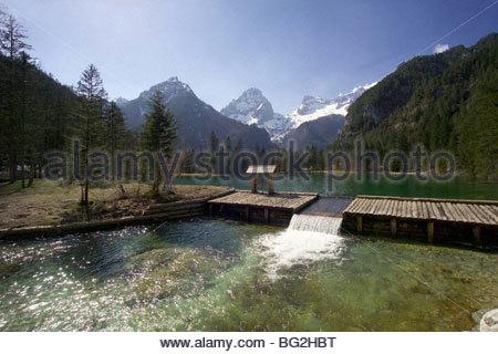 Oberösterreich, Schiederweiher bei Hinterstoder - Upper Austria, Schiederweiher near Hinterstoder - Stock Photo