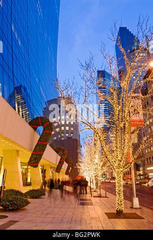 Christmas New York 57th Street Fifth Avenue - Stock Photo