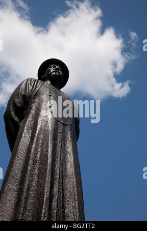 Lin Ze Xu statue, Chinatown, NYC - Stock Photo