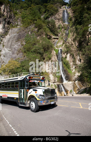 Waterfall near Panajachel Lake Atitlan Guatemala. - Stock Photo