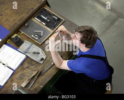 Trainee as a electronic technician at TRAINICO . Wildau , - Stock Photo