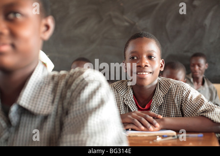Pupils at school . FadaNgourma , Burkina Faso . - Stock Photo