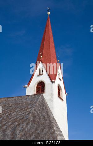Europe; Italy; Alpi; Alto Adige; church steeple - Stock Photo