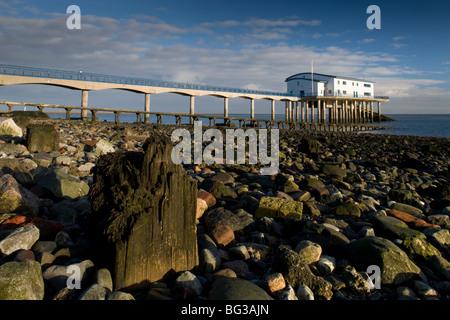 Lifeboat Station, Roa Island, Barrow-in-Furness - Stock Photo