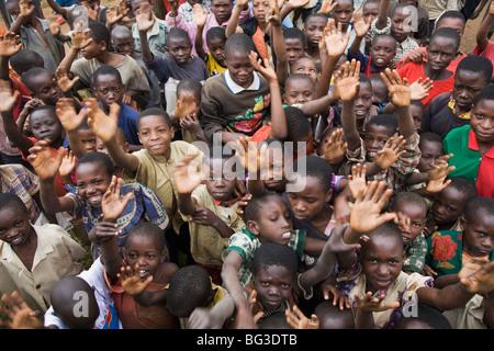 Village of Masango, Cibitoke Province, Burundi, Africa - Stock Photo