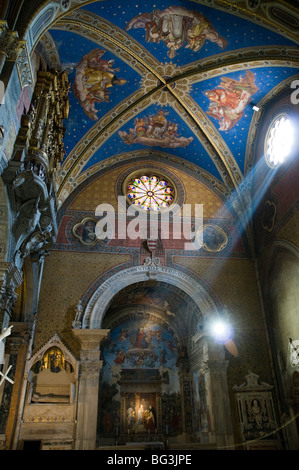 Interior of Santa Maria sopra Minerva (Basilica of Saint Mary Above Minerva) - Stock Photo