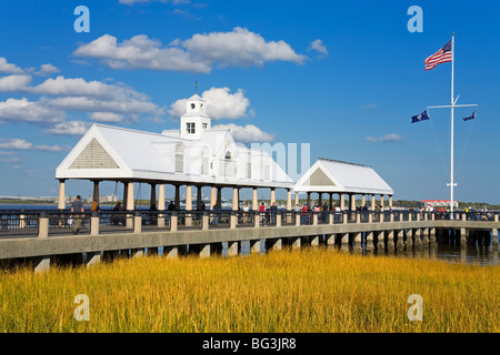 Waterfront Park Pier, Charleston, South Carolina, United States of America, North America - Stock Photo