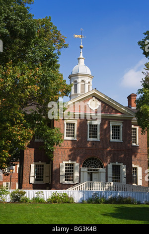 Carpenters' Hall, Independence National Historical Park, Old City District, Philadelphia, Pennsylvania, USA - Stock Photo