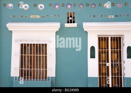 Colonial style house in Old Town District, Mazatlan, Sinaloa State, Mexico, North America - Stock Photo