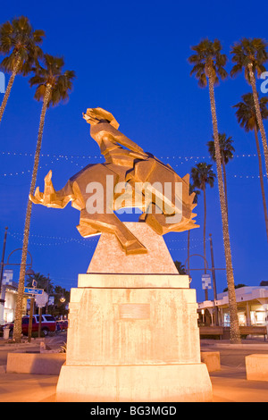 Jack Knife sculpture by Ed Mell, Main Street, Arts District, Scottsdale, Phoenix, Arizona, United States of America - Stock Photo