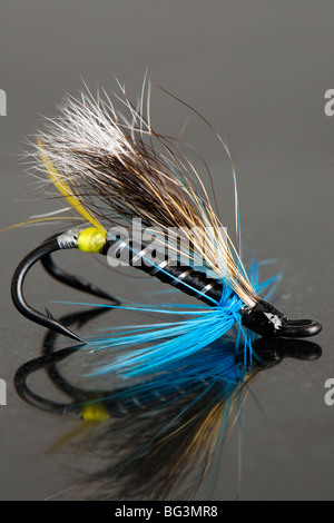 Blue Double Hook Fly - Stock Photo