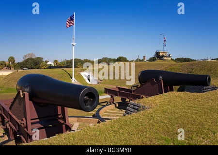 Fort Moultrie on Sullivans Island, Charleston, South Carolina, United States of America, North America - Stock Photo