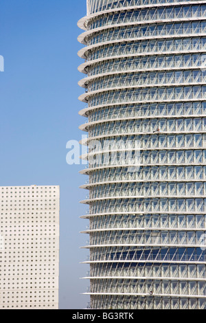 Water tower, Expo 2008 Work in Progress, Zaragoza, Aragon, Spain, Europe - Stock Photo