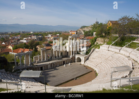 The Roman theatre of ancient Philippopolis, Plovdiv, Bulgaria, Europe - Stock Photo