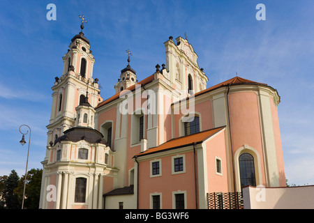 St. Catherine's Church and the Benedictine Nunnery, Vilnius, Lithuania, Baltic States, Europe - Stock Photo