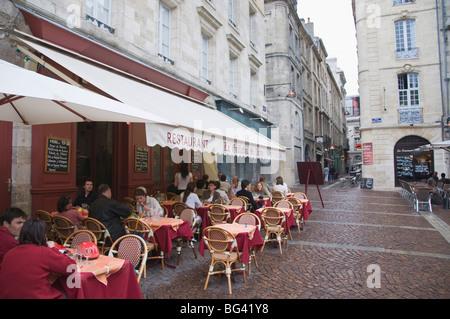 restaurant terrace place st pierre bordeaux france stock photo 21923661 alamy. Black Bedroom Furniture Sets. Home Design Ideas