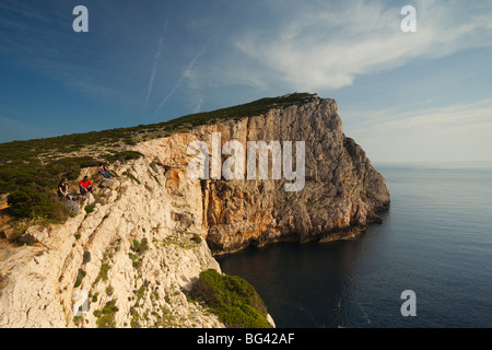 Italy, Sardinia, Western Sardinia, Alghero, Capo Caccia - Stock Photo
