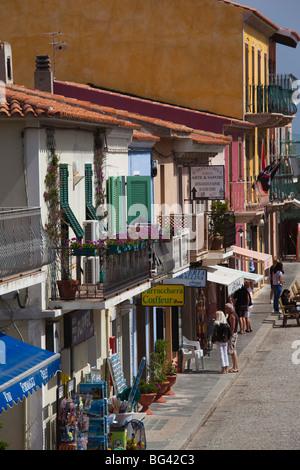 Italy, Sardinia, Northern Sardinia, Santa Teresa di Gallura, Via Sanna shops - Stock Photo