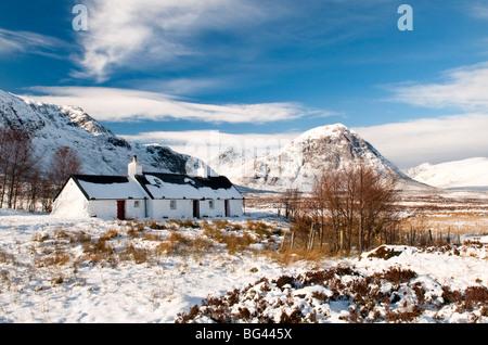 Black Rock Cottage, Glencoe, Scotland, UK - Stock Photo