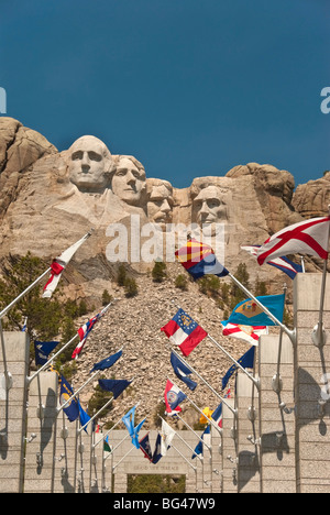 Mount Rushmore National Monument, South Dakota, United States of America, North America - Stock Photo