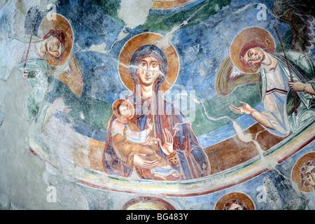 Basilica Sant Angelo in Formis (late 9 century), Caserta, Campania, Italy - Stock Photo