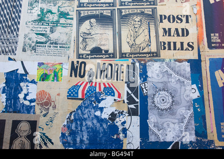 USA, California, Los Angeles, Downtown, Arts District wall art, East 3rd Street - Stock Photo