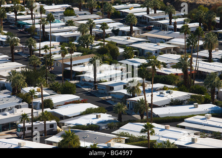 USA, California, Palm Springs, Trailer Park on East Palm Canyon Drive - Stock Photo